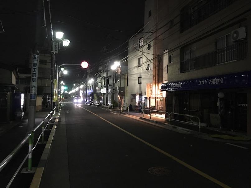 夜の高台通り